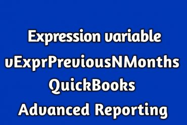 vExprPreviousNMonths QuickBooks Advanced Reporting