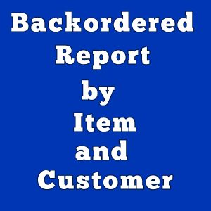 Backordered report by item and customer