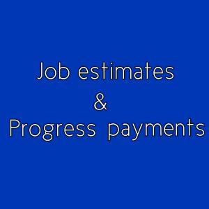 Job Estimate And Progress Payment