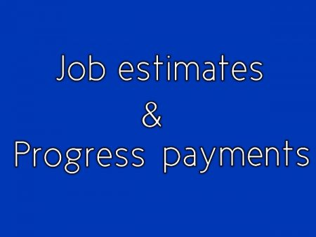 Job Estimate And Progress Payment