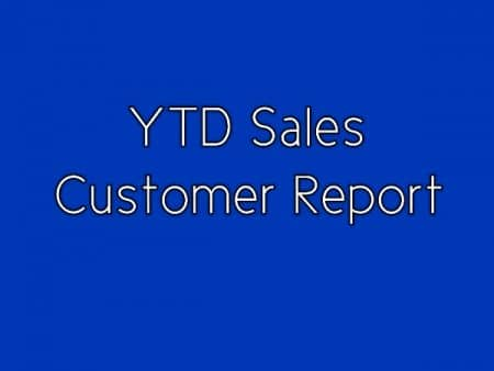YTD Sales by Customer in QuickBooks Advanced Reporting